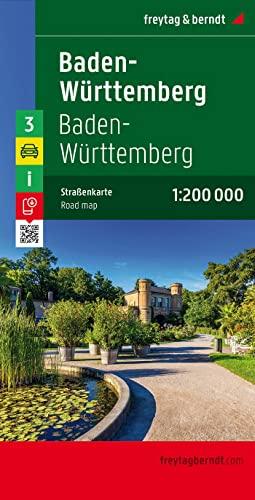 9783707900675: Baden, Württemberg mapa de cerreteras. Escala 1:200.000. Freytag & Berndt.: Germany Road Map (Auto karte)