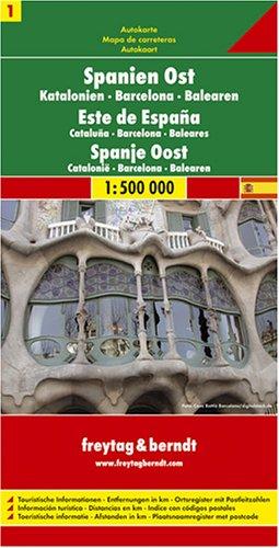 9783707900828: Espagne de l'Est, Catalogne, Barcelone, Bal�ares. 1/500 000: Catalun, Barcelona, Balearic Islands