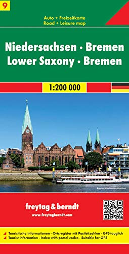 Lower Saxony and Bremen: Road Map and Leisure Map