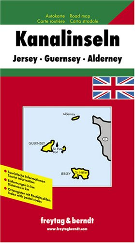 9783707901740: Channel Isles Map, Great Britain (English, French, Italian and German Edition)