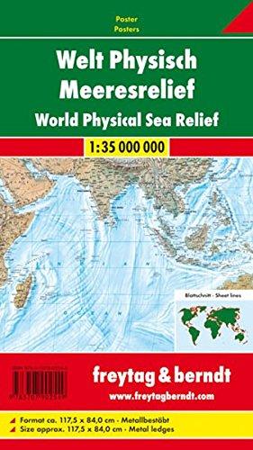 9783707902549: FuB Welt physisch Meeresrelief - 1 : 25 Mio. Gro�format Karte gest�bt