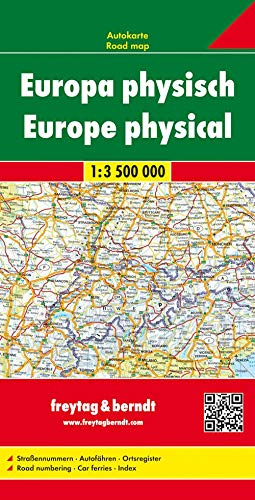 9783707903027: Europe Physhical Map 1:3.5M FB (English, Spanish, French, Italian and German Edition)