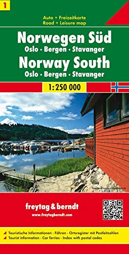 9783707903164: Sur de Noruega, Oslo, Bergen, Stavanger mapa de carreteras. Escala 1:250.000. Freytag & Berndt. (Auto karte)