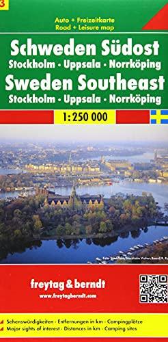 Schweden. Südost, Stockholm, Uppsala, Norrköping. Autokarte. 1: Freytag-Berndt und Artaria