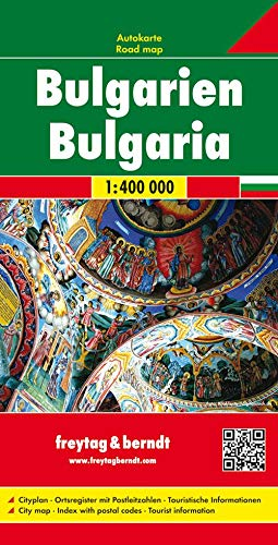 9783707903225: Bulgaria 1:400,000 road map FB (Road Maps) (English and German Edition)