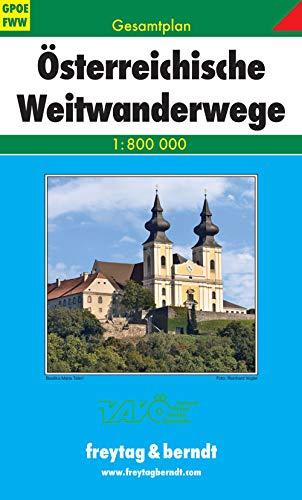 9783707903379: Gesamtplan Österreichische Weitwanderwege 1:800.000