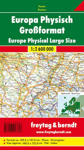 9783707903607: Europa physisch Gro�format 1 : 2 600 000