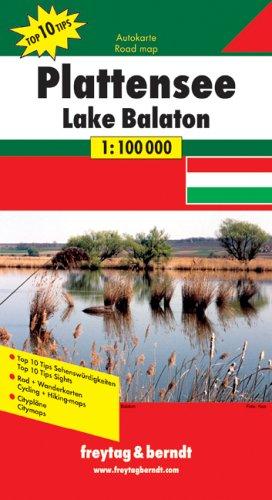 9783707903713: Map-Plattensee (Lake Balaton) (English, German and Russian Edition)