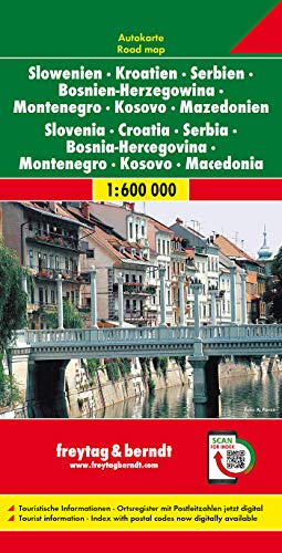 9783707904284: Slovenia - Croatia - Serbia-Montenegro - Bosnia-Hercegovina - Macedonia (1:600 000)