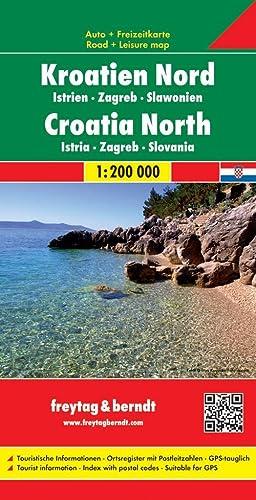9783707904598: Croatia North/Istria/Zagreb/Slavonia (Road Maps) (English and German Edition)