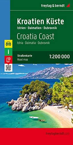9783707904604: Costa Croata, Istria, Dalmacia, Dubrovnik mapa de carreteras. Escala 1:200.000. Freytag & Berndt. (Auto karte)