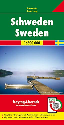 9783707904680: Sweden Road Map (Country Road & Touring): Wegenkaart 1:600 000 (Road Maps)
