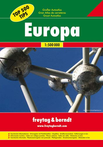 9783707905656: Europe Great Road Atlas (Top 500 Tips)