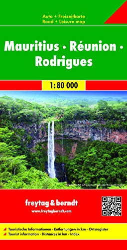 Mauritius - Reunion - Rodriguez Map (English, Spanish, French, Italian and German Edition): ...