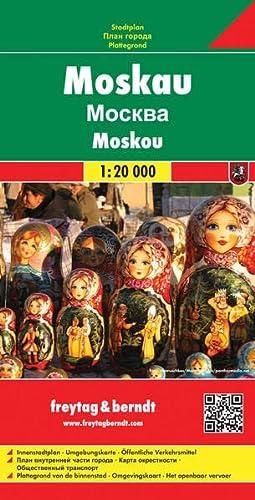 9783707906158: Moscú, plano callejero. Escala 1:20.000. Freytag & Berndt. (Country Mapping S.)