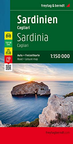 9783707907636: Sardinia Travel Map (with Cagliari) (English, Spanish, French, Italian and German Edition)