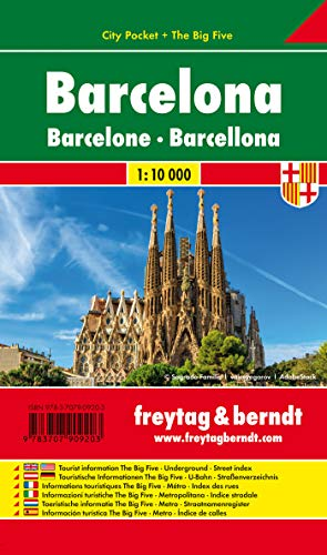 9783707909203: Barcelona City Pocket Map 1:10K FB (English, Spanish, French, Italian and German Edition)