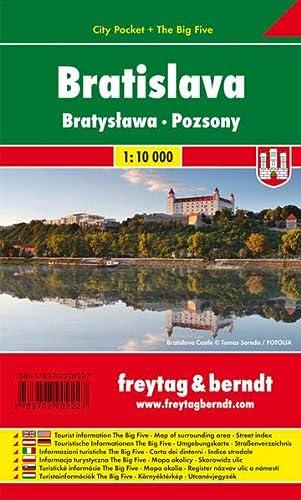 9783707909227: Bratislava 1:10K Pocket Map (English, Italian and German Edition)