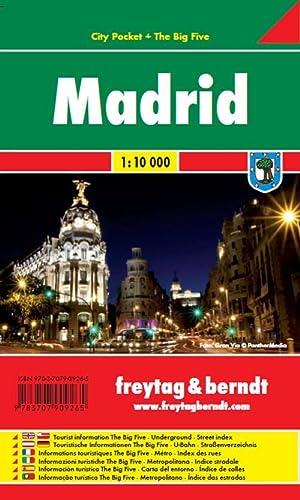 9783707909265: Madrid, plano callejero plastificado de bolsillo. Escala 1:10.000. Freytag & Berndt.