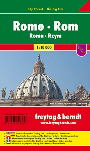 Rome City Pocket Map FB (English, Spanish, French, Italian and German Edition): Freytag-Berndt