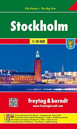 9783707909326: Estocolmo, plano callejero de bolsillo plastificado. City Pocket. Escala 1:10.000. Freytag & Berndt.