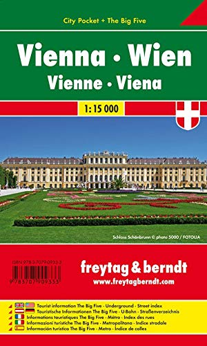 9783707909333: Vienna City Pocket Map 1:15K (English, Spanish, French, Italian and German Edition)