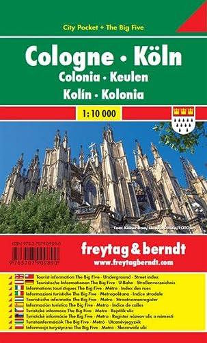 9783707909890: Colonia, plano callejero de bolsillo plastificado. City Pocket. Escala 1:10.000. Freytag & Berndt.: Stadskaart 1:10 000
