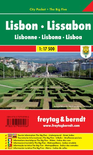 9783707909906: Lisbon City Pocket Map FB 1:17.5K (English, French and German Edition)