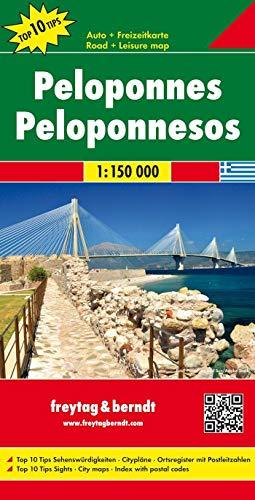 9783707910575: Peloponeso, mapa de carreteras. Escala 1:150.000. Freytag & Berndt. (Auto karte)