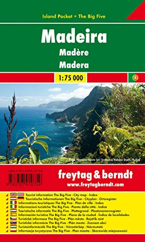 9783707910759: Madeira Island Pocket 1:75K FB (English, Spanish, French, Italian and German Edition)