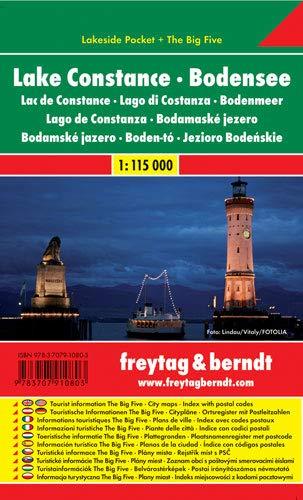 9783707910803: Lago Constanza, mapa de carreteras plastificado de bolsillo. Escala 1:115.000. Freytag & Berndt.