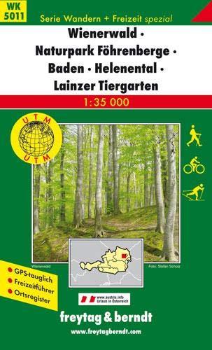 9783707910858: Vienna woods natural preserve 1:35.000 (Wander Karte)