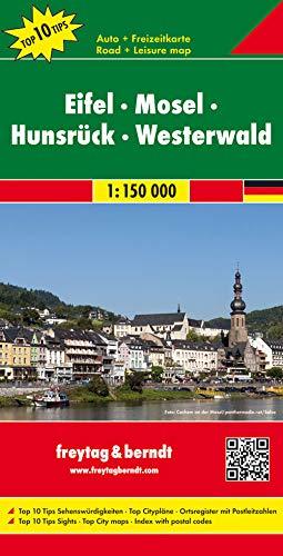 9783707911534: Eifel, Mosela, Hunsruck, Westerwald, mapa de carreteras. Escala 1:150.000. Freytag & Berndt.: Toeristische wegenkaart 1:150 000 (Auto karte)