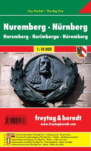 9783707911718: Nurnberg City Pocket Map 1:10K (English, Spanish, French, Italian and German Edition)