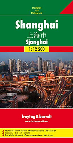 9783707911770: Shanghai City Map FB 1:12.5K (English, Spanish, French, Italian and German Edition)