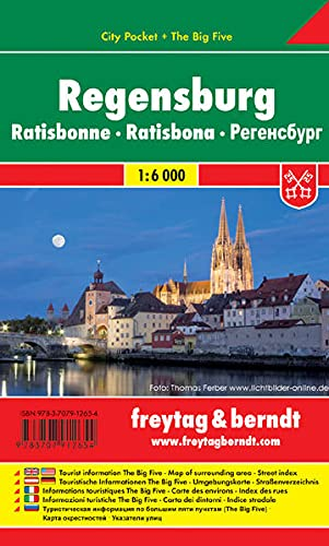 9783707912654: Regensburg FB City Pocket Map 1:6K (English, Spanish, French, Italian and German Edition)