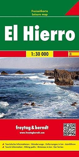 El Hierro Freizeitkarte; touristische Informationen, Wanderwege, Entfernungen: Klaus Wolfsperger