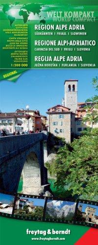 9783707913637: Alpes Adriáticos, mapa de carreteras impermeable. Escala 1:200.000 Freytag & Berndt