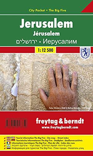 9783707913750: Jerusalem FB City Pocket Map 1:12.5K (English, Spanish, French, Italian and German Edition)