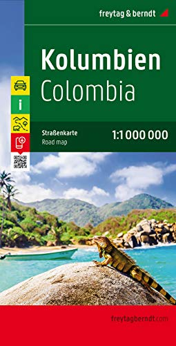 9783707913958: Colombia Road Map - 1:1,000,000 (English, Spanish, French, Italian and German Edition)