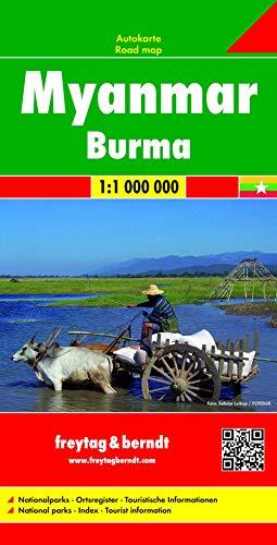 9783707914061: Myanmar (Burma) Travel Road Map FB 1:1M 2015 (English, Spanish, French, Italian and German Edition)