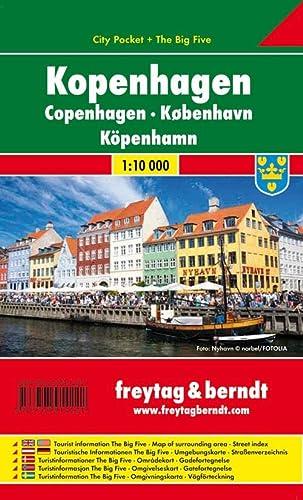 9783707914221: Copenhague City Pocket, plano callejero plastificado. Escala 1:10.000. Freytag & Berndt.: Stadskaart 1:12 500