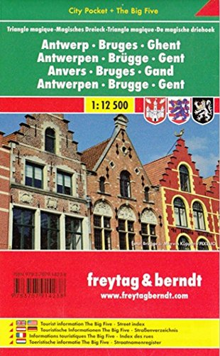 9783707914238: Antwerp - Bruges - Ghent: FB City Pocket Map (English, French and German Edition)