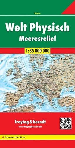 9783707914566: World fys.+ocean floor folded f&b: Wereldkaart 1:35 000 000