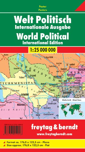 9783707914948: World Political Flat Map 2015: FBP.WELTPI4