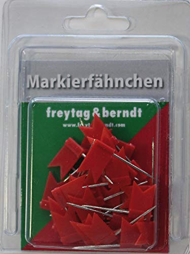 9783707915426: Pin F�hnchen rot: 30 Stk. Packung, 32 mm Steckl�nge