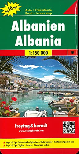 9783707915471: Albania, Top 10 Tips, Road map 1:150,000 (English, French, Italian and German Edition)