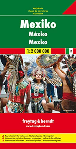 Mexico, Road Map (English, Spanish, French, Italian and German Edition): Freytag-Berndt und Artaria