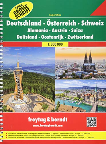 9783707916621: Deutschland, Österreich, Schweiz 1:300.000 (Atlanti e piante di città)