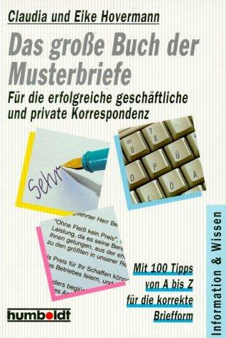 9783899942194 Das Große Buch Der Musterbriefe Für Die Erfolgreiche